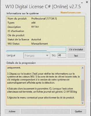 Windows: Digital license 2.7.5 activation (Windows)
