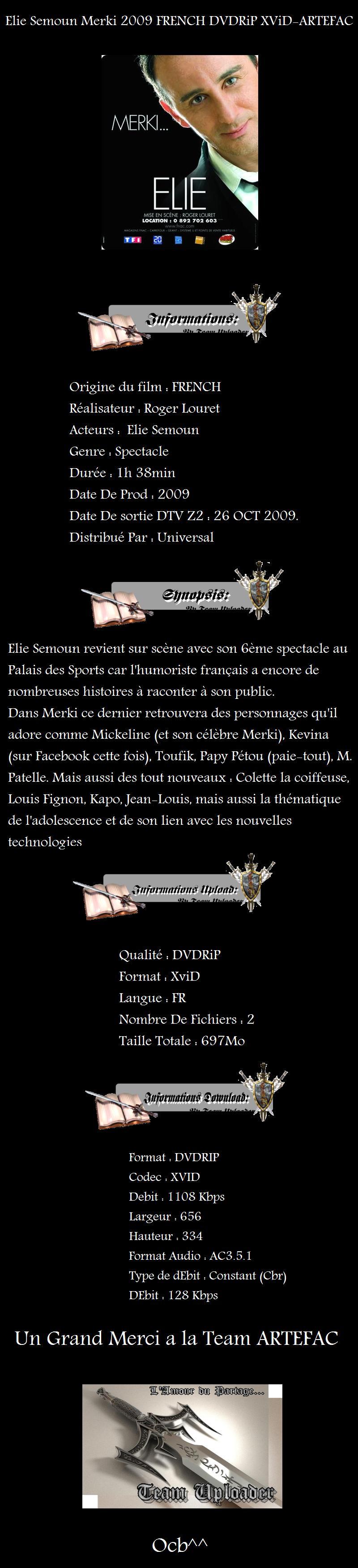 Elie Semoun - Merki DVDRIP FRENCH 2009